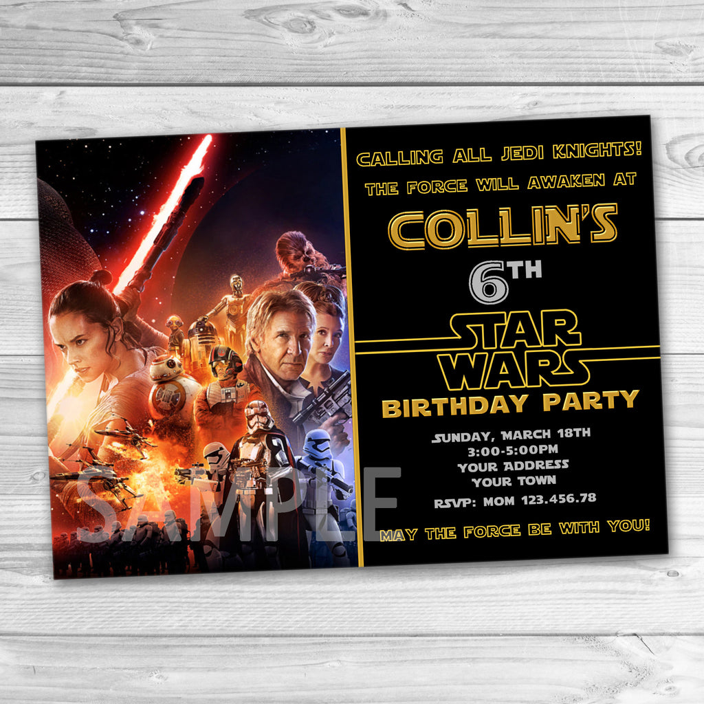 Star Wars Invitation. BB8 Party Invitation. Star Wars Printable. Star Wars Birthday Party Printable Invites. BB-8 Invitation.