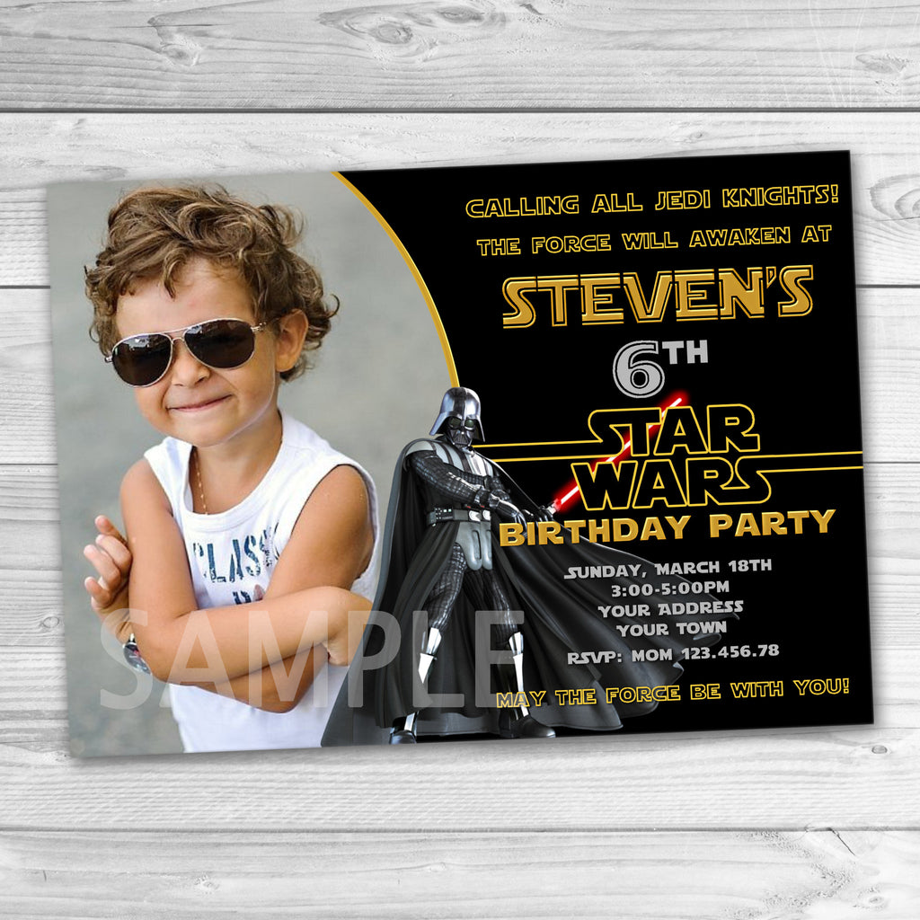 Darth Vader Party Invitation Star Wars Printabl Partyforyoudesigns