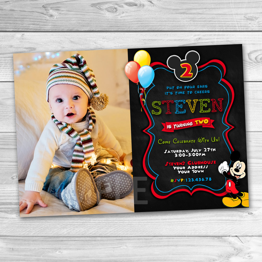 Mickey Mouse Party Invitation. Mickey Mouse Invitation. Mickey Mouse  Clubhouse Invitation. Mickey Mouse