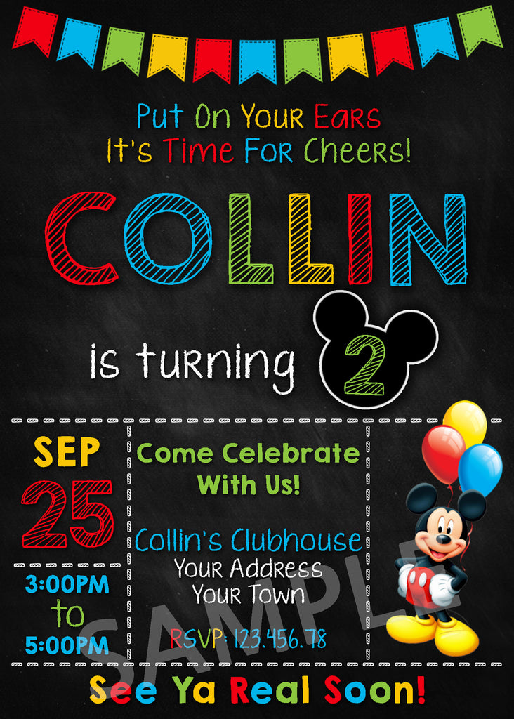 graphic relating to Mickey Mouse Printable Birthday Invitations identified as Mickey Mouse Celebration Invitation. Mickey Mouse Invitation. Mickey Mouse Clubhouse Invitation. Mickey Mouse Printable. Mickey Mouse Birthday Celebration