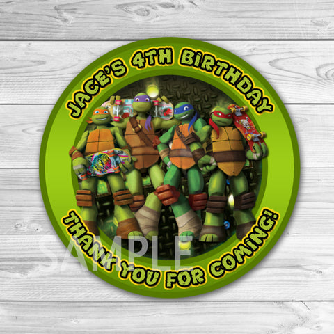 TMNT Ninja Turtles Birthday Thank You Tags. Teenage Mutant Ninja Turtles  Thank You Stickers. TMNT Birthday Party Favors. Ninja Turtles Birthday Party. Ninja Turtles Thank You Tag.