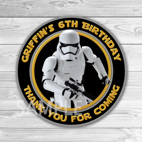Star Wars Birthday Thank You Tags. Star Wars Thank You Stickers. Star Wars Birthday Party Favors. Storm Troopers Thank You Tag.