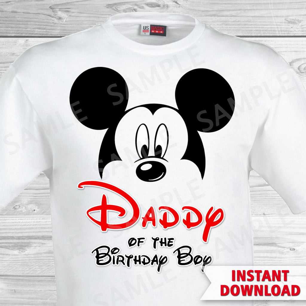 Mickey Mouse Dad Of The Birthday Boy Iron On Partyforyoudesigns