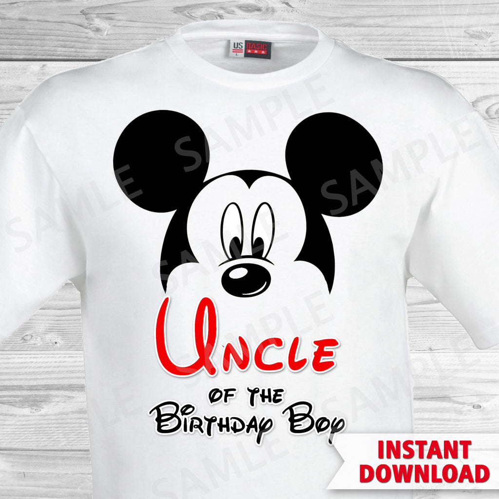 Mickey Mouse Uncle of the Birthday Boy Iron On