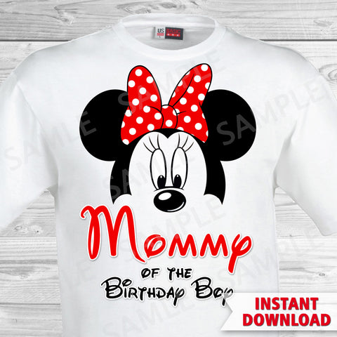 Mickey Mouse Mom of the Birthday Boy Iron On