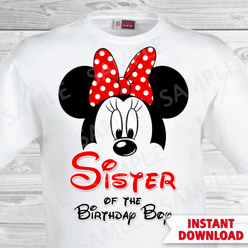 Mickey Mouse Sister of the Birthday Boy Iron On
