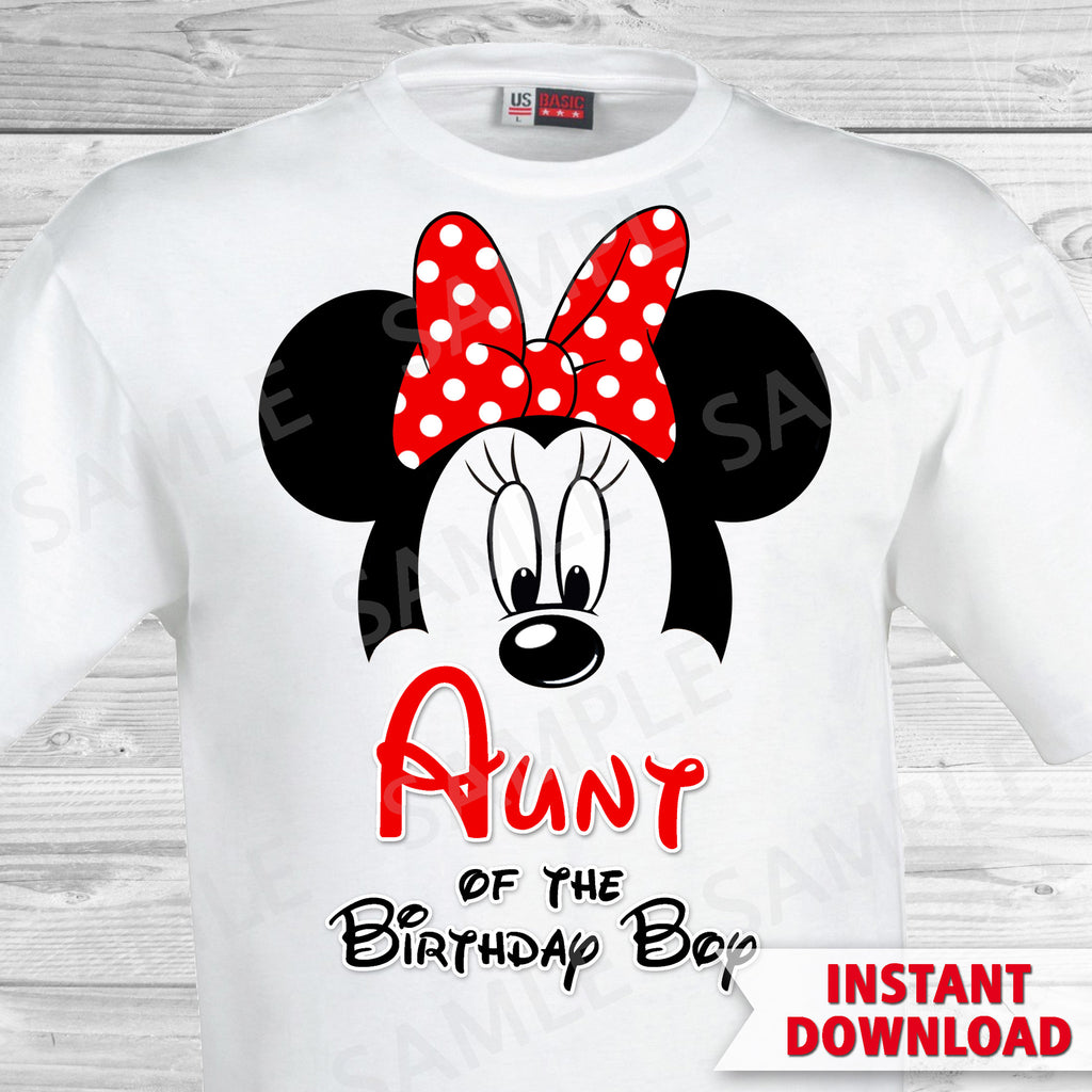 Mickey Mouse Aunt of the Birthday Boy Iron On