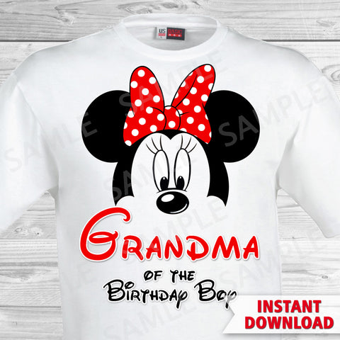 Mickey Mouse Grandma of the Birthday Boy Iron On