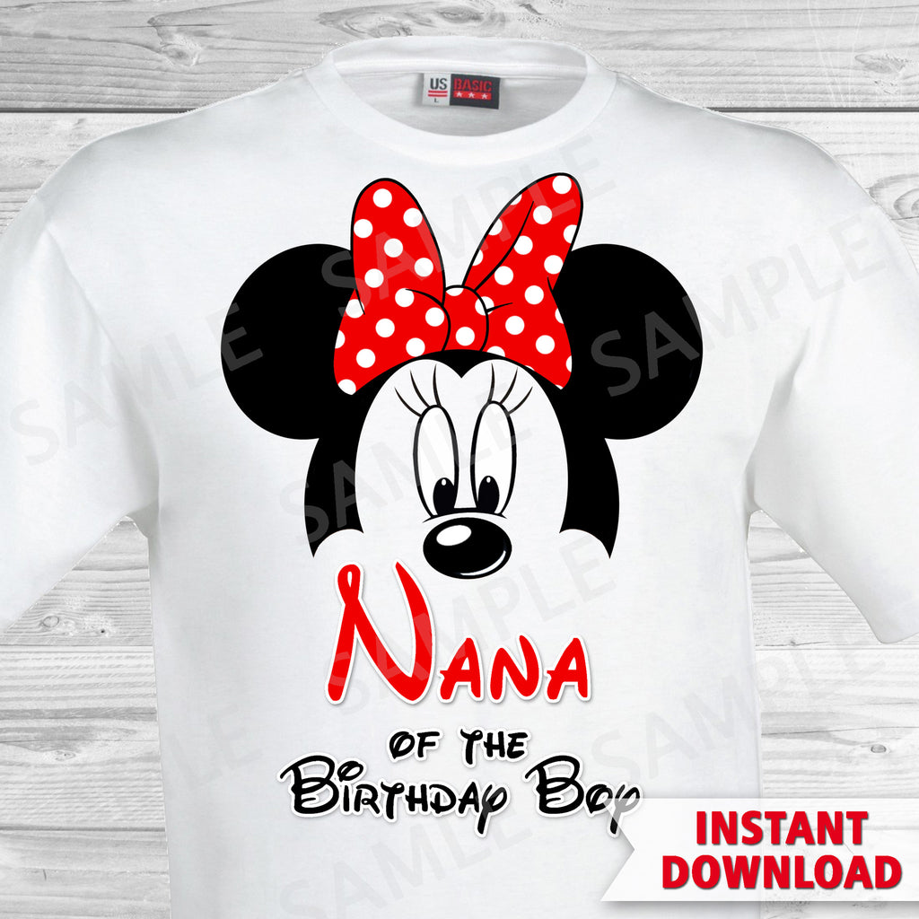 Mickey Mouse Nana Of The Birthday Boy Iron On Partyforyoudesigns