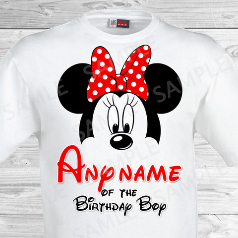 Mickey Mouse Any Name of the Birthday Boy Iron On