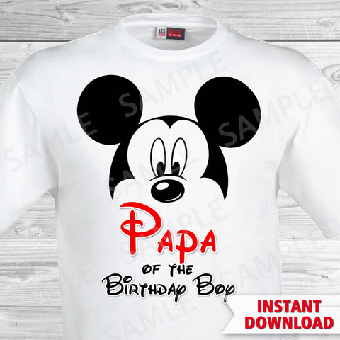 Mickey Mouse Papa of the Birthday Boy Iron On