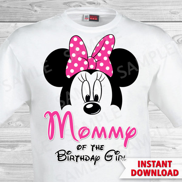 Minnie Mouse Mom Of The Birthday Girl Iron On