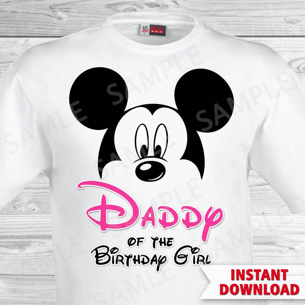 Minnie Mouse Dad of the Birthday Girl Iron On
