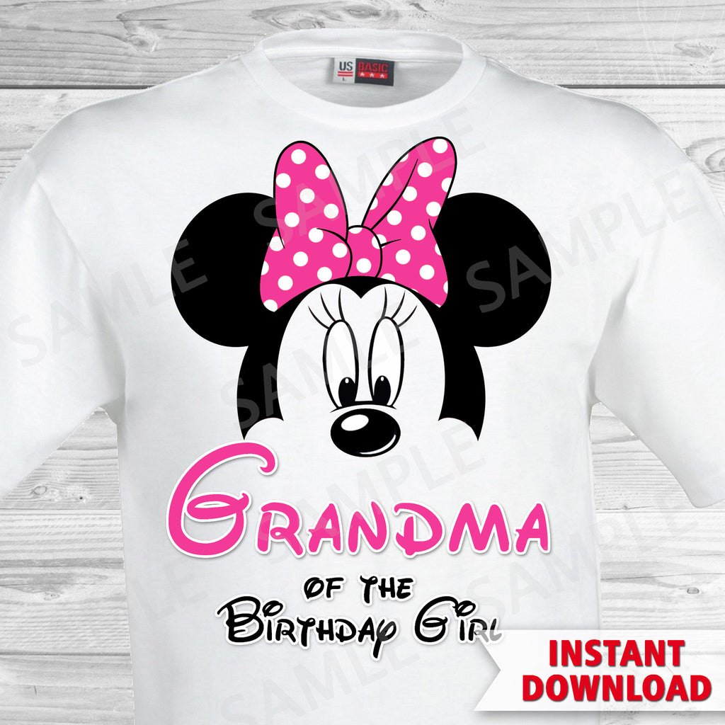Minnie Mouse Grandma of the Birthday Girl Iron On
