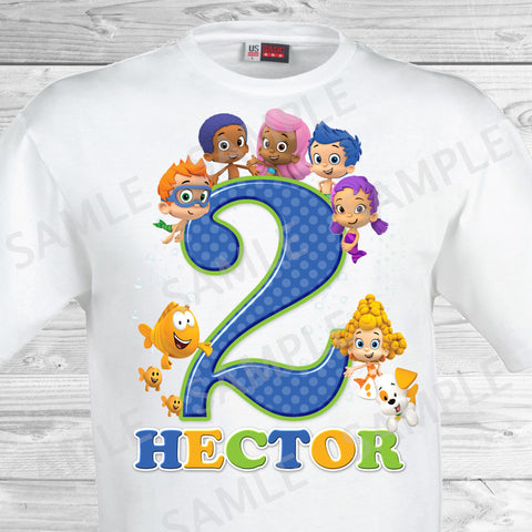 Bubble Guppies Shirt. Bubble Guppies Birthday Iron On Transfer.