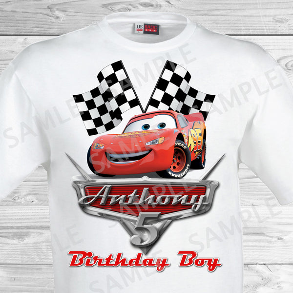 disney cars iron on  disney cars birthday shirt  disney