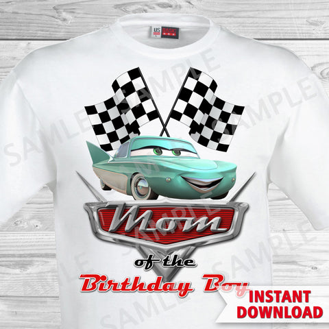 T-shirt Cars Iron On. Cars Birthday Mom of the Birthday Boy Iron On Transfer. Cars Printable Birthday Boy.