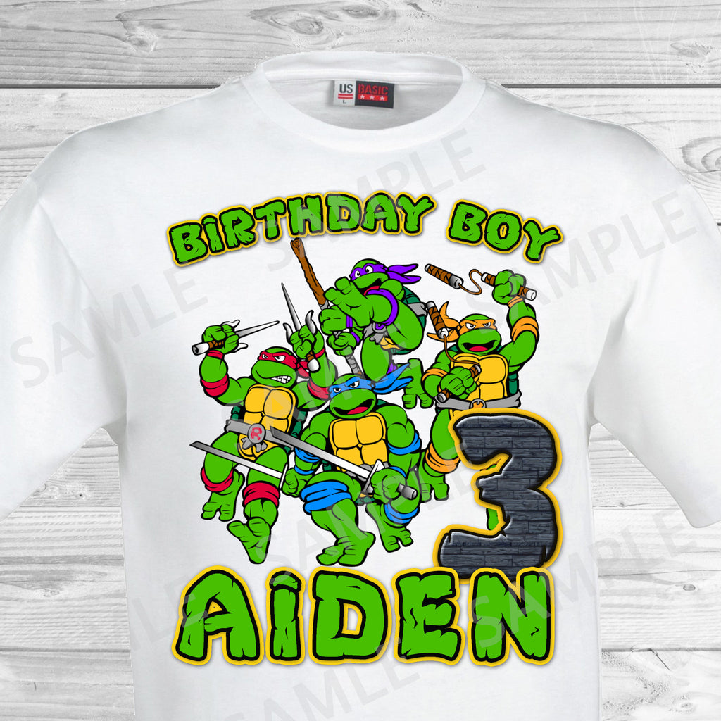 Teenage Mutant Ninja Turtles Iron On. TMNT Birthday Shirt. Teenage Mutant Ninja Turtles Birthday Party Transfer. TMNT Party.