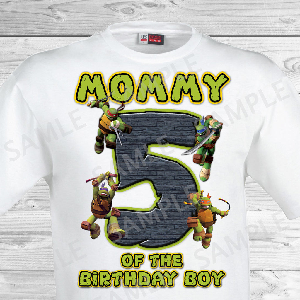 Teenage Mutant Ninja Turtles Iron On. TMNT Ninja Turtles Mom of the Birthday Boy Shirt. Teenage Mutant Ninja Turtles Birthday Party Transfer. TMNT Party.