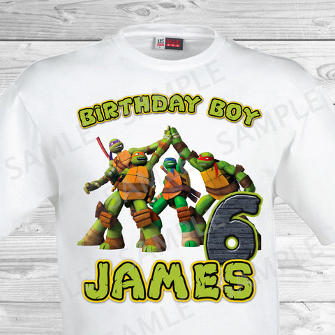 TMNT Ninja Turtles Iron On. TMNT Birthday Shirt. Teenage Mutant Ninja Turtles Birthday Party Transfer. TMNT Party.
