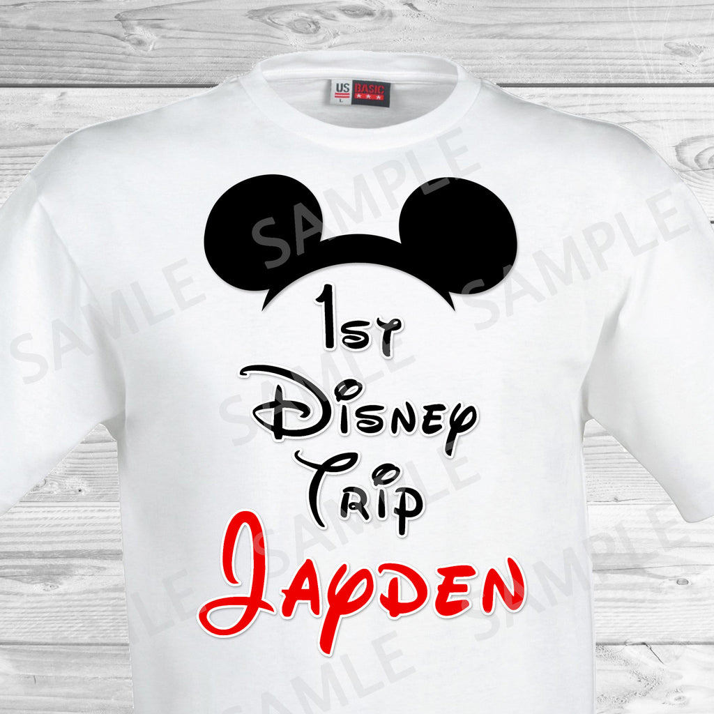 ca45d16b My First Disney Trip Iron On. Disney World Family Vacation Iron on. DI –  partyforyoudesigns