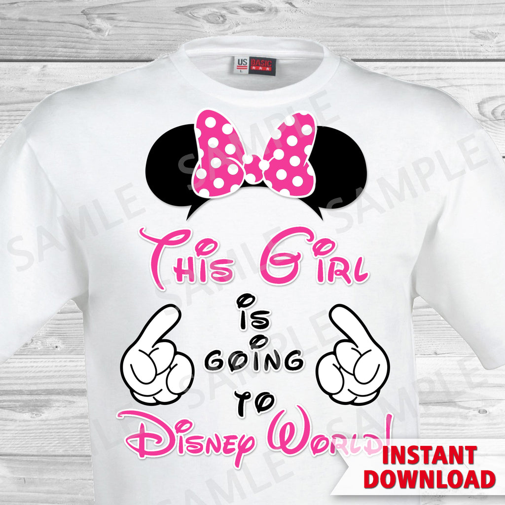 photo relating to Printable Iron on identify This Woman is Relocating towards Disney Globe Printable Iron Upon Move. Disney World-wide Loved ones Family vacation Iron upon. Do it yourself Disney Shirts - Minnie Ears.