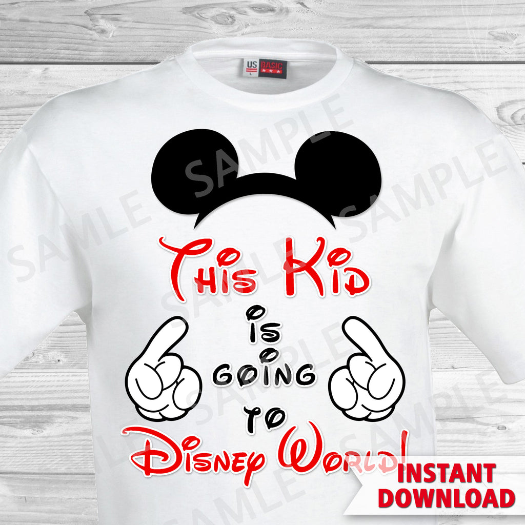 graphic about Printable Iron on Transfer called This Little one is Likely towards Disney Entire world Printable Iron Upon Move. Disney Planet Loved ones Trip Iron upon. Do it yourself Disney Shirts - Mickey Ears.