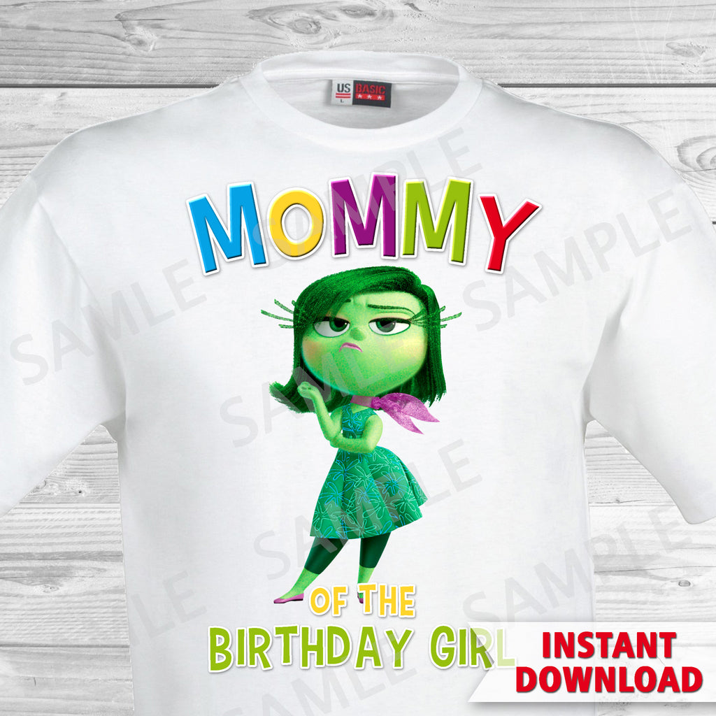 Inside Out Mom Of The Birthday Girl Iron On Transfer. Inside Out T-shirt. Inside Out Birthday Party.