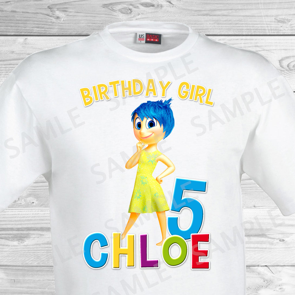 Inside Out Birthday Iron On Transfer. Inside Out T-shirt. Inside Out Birthday Party.