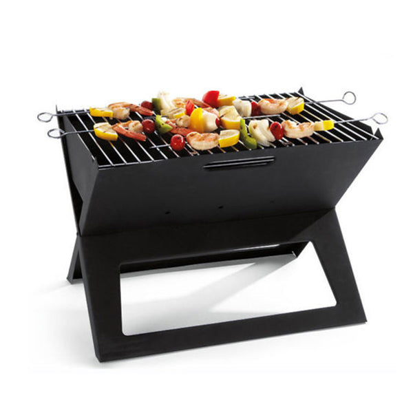Portable Notebook Grill Foldable Folding Charcoal BBQ Camping Picnic Barbecue