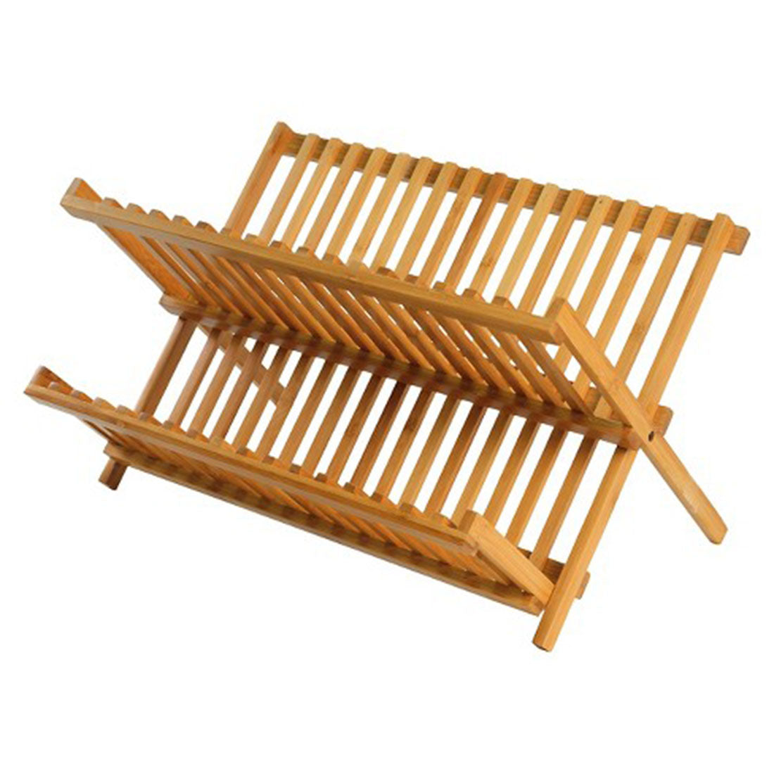 Wooden Foldable Sink Dish Drainer Plate Dryer Rack Holder