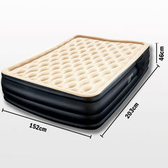 Bestway Dreamair Premium Luxury Inflatable Single Air Bed Mattress Built-in Pump