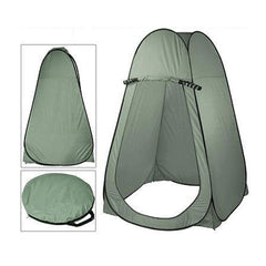 Pop Up Camping Shower Toilet Tent Outdoor Privacy Portable Change Room Shelter - green