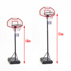Adjustable Portable Height Junior Kids Basketball Stand System Net Ring Hoop Set