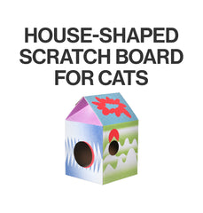 Pidan Cat Kitten Scratcher house CAT HUT Corrugated Cardboard Scratching Board Geo