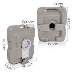 10L Outdoor Portable Camping Toilet Bonus Carry Bag