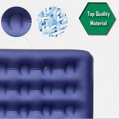 Bestway Comfort Quest Inflatable Flocked Air Bed Mattress Queen