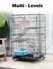 3 Level Rabbit Bird Cage Ferret Parrot Aviary Cat Rat Aviary Budgie Hamster Pet Cages Castor L