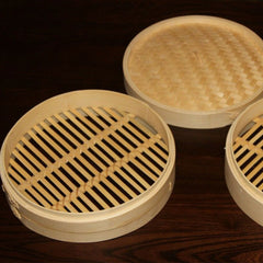 Bamboo Steamer Set-2 Steamer Baskets With 1 Lid