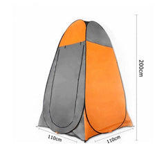 Pop Up Portable Privacy Shower room Tent &20L Outdoor Camping Water Bag Camp Set - orange
