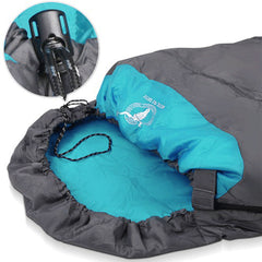 Double Camping Envelope Twin Sleeping Bags Thermal Hiking Summer Compact - green