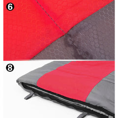 Outdoor Camping Envelope Sleeping Bag Thermal Tent Hiking Winter Single -15°C - red