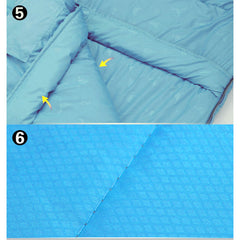 Outdoor Camping Envelope Sleeping Bag Thermal Tent Hiking Winter Single -10°C - blue