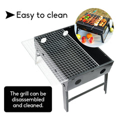 Outdoor Camping Portable & Foldable Charcoal BBQ Grill Hibachi Picnic Barbecue
