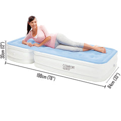 Bestway Quest Inflatable Air Bed Mattress With Adjustable Backrest