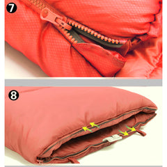 Outdoor Camping Envelope Sleeping Bag Thermal Tent Hiking Winter Single -10°C - red