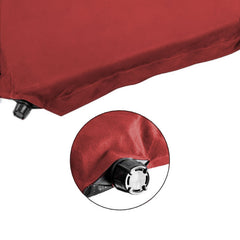 Double Self inflating Suede Mattress Mat Sleeping Pad Air Bed Camping Hiking - red