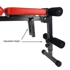 Adjustable Sit Up Weight FID Bench Fitness Flat Incline Decline Press Gym Home