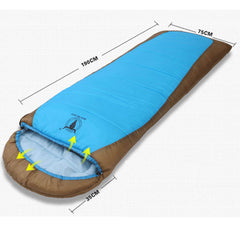 Double Camping Envelope Twin Sleeping Bag Thermal Tent Hiking Winter -12° C - blue