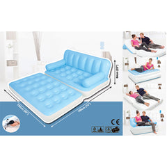 Bestway Inflatable 5 in 1 Multi-functional Couch - blue
